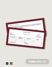 Company Cash Voucher Template