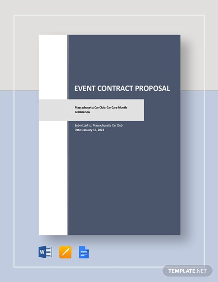 Event Contract Proposal Template