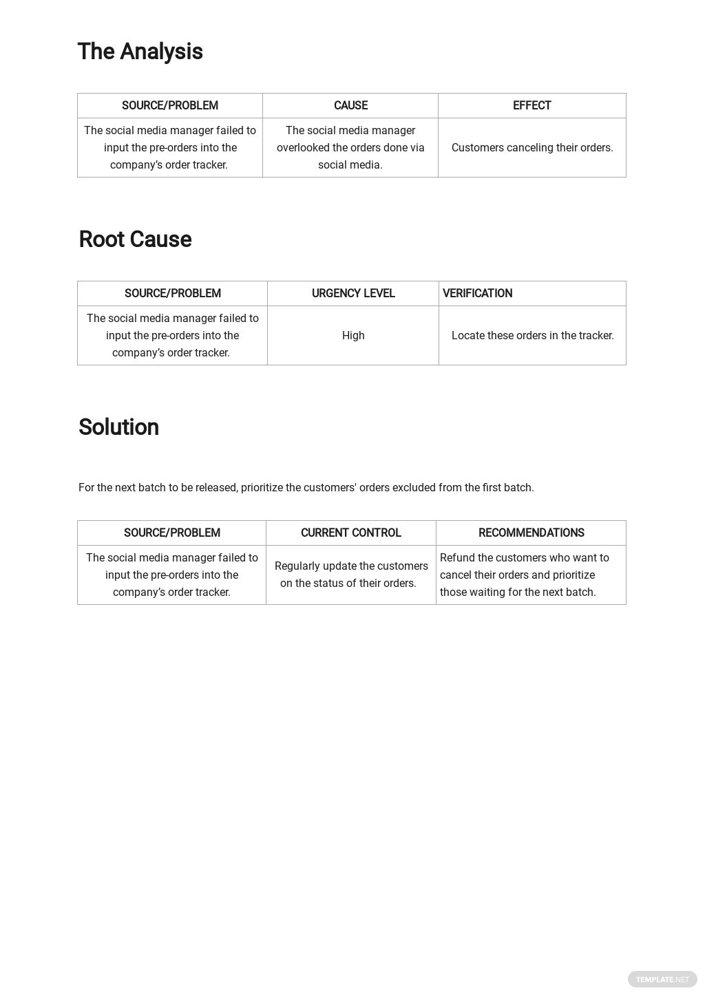 Free Defect Root Cause Analysis Template 2.jpe