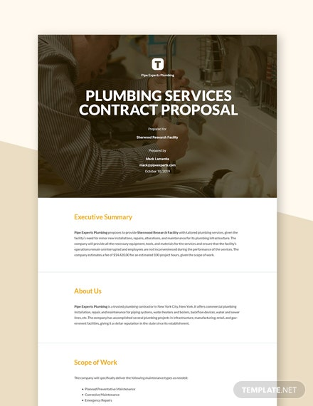 Editable Job Contract Proposal Template