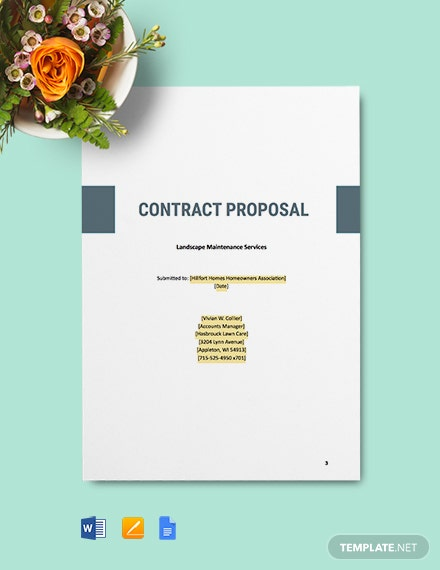 Landscape Contract Proposal Template
