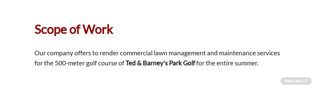 FREE Lawn Care Contract Proposal Template - Google Docs, Word, Apple Pages