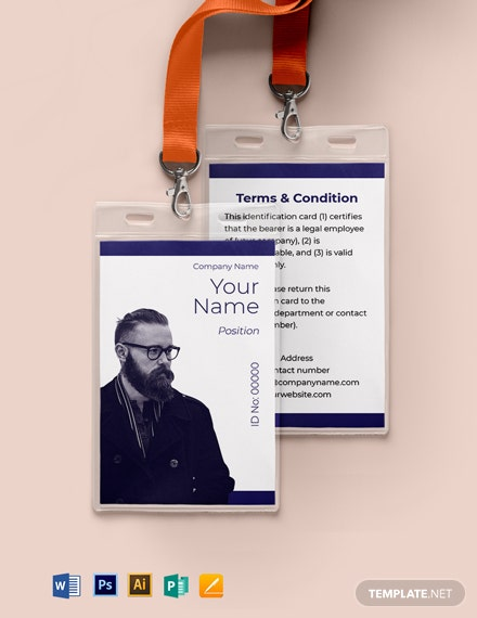 Blank Investigator ID Card Template