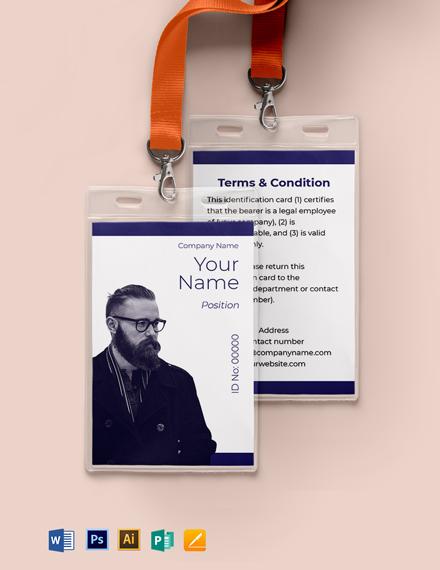Blank Investigator ID Card Template