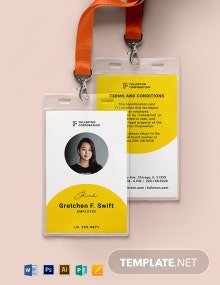 Blank Department ID Card Template