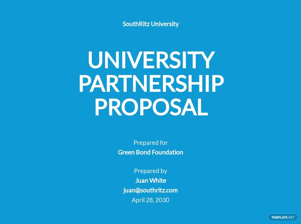 University Partnership Proposal Template