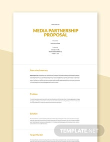 Media Partnership Proposal Template