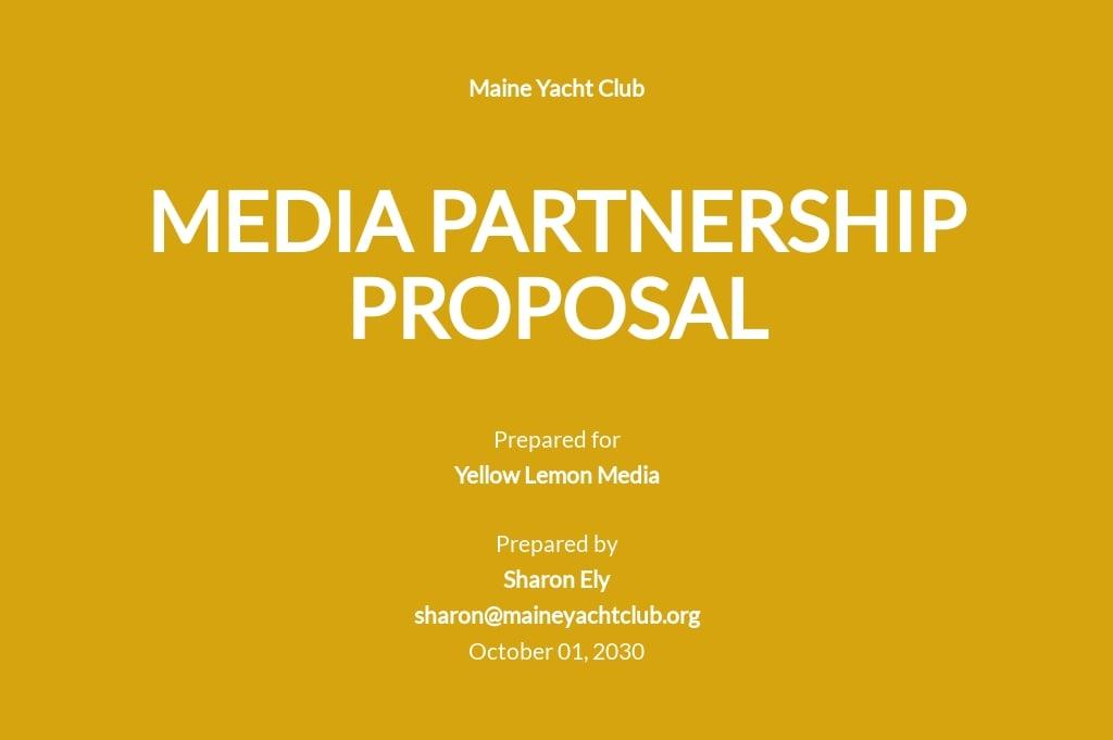 Media Partnership Proposal Template