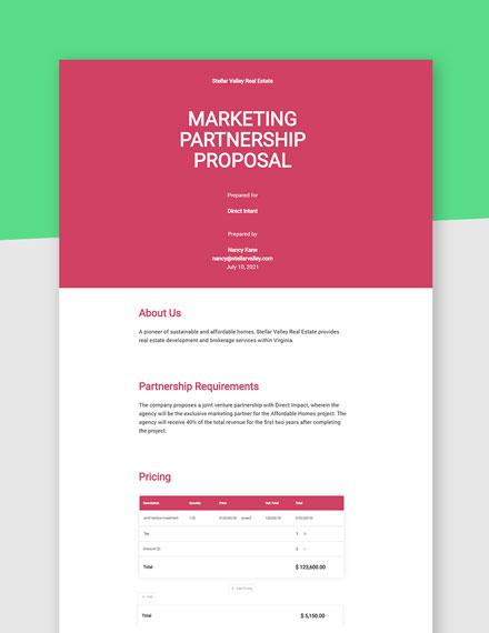 Marketing Partnership Proposal Template