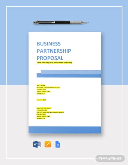 Marketing Partnership Proposal Template
