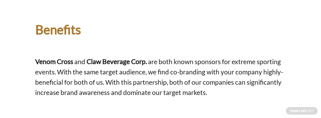 Brand Partnership Proposal Template [Free PDF] - Google Docs, Word, Apple Pages