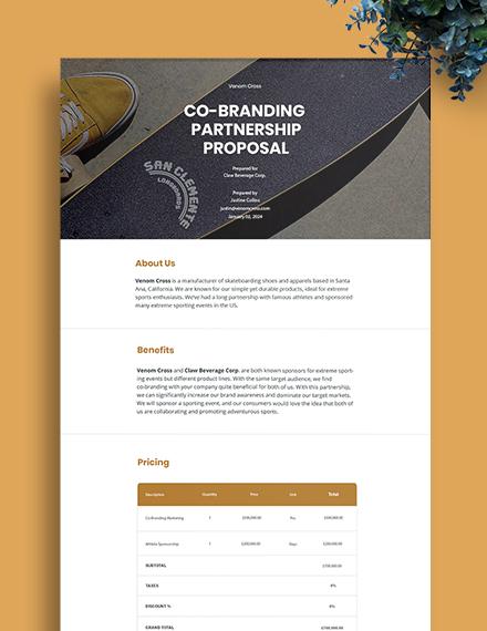 Brand Partnership Proposal Template