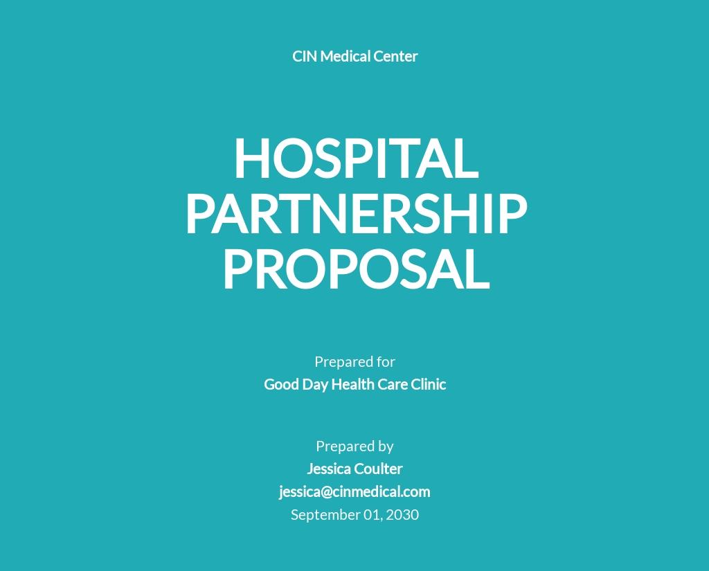 Hospital Partnership Proposal Template