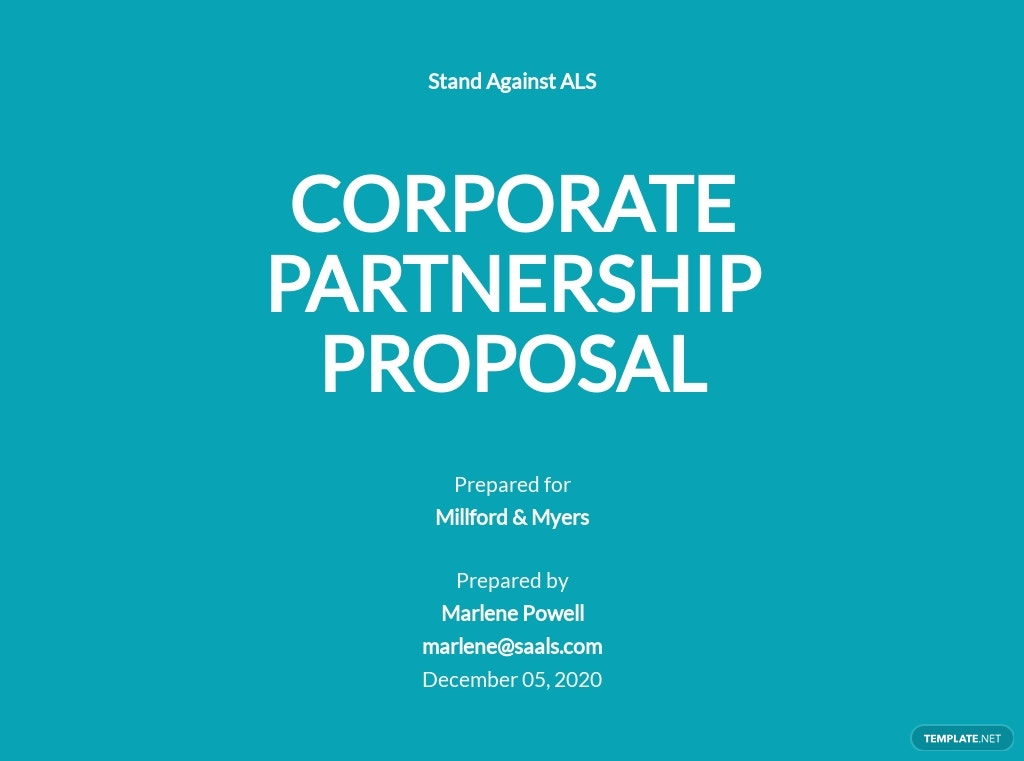 Corporate Partnership Proposal Template