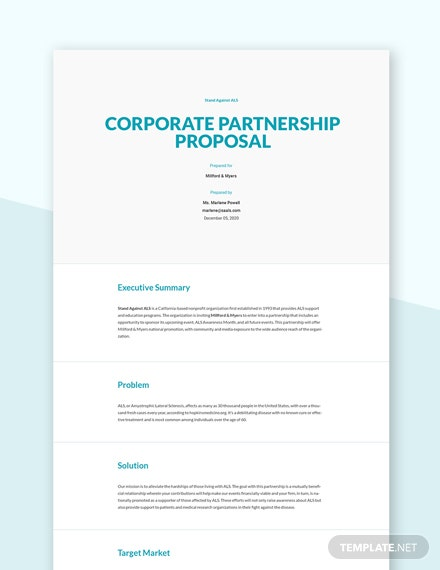 Corporate Partnership Proposal Template