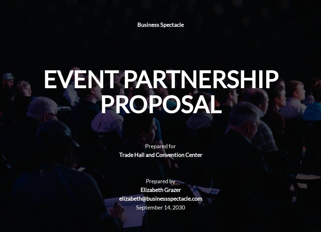 Event Partnership Proposal Template