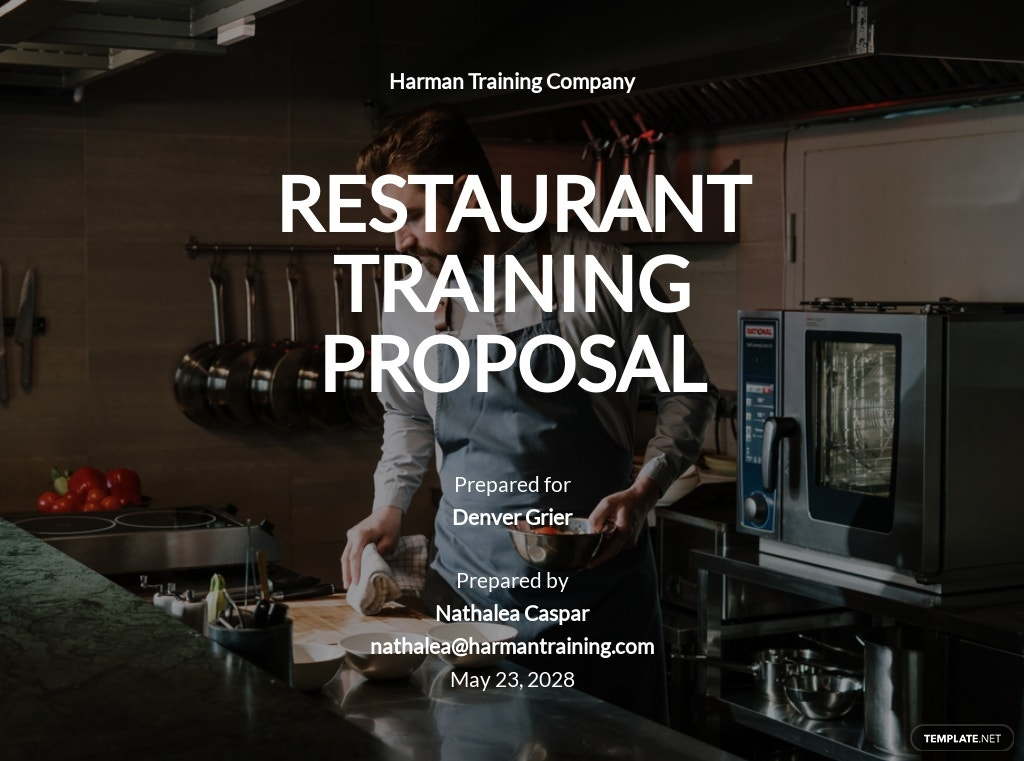 Restaurant Training Proposal Template