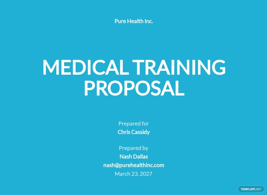 Medical Training Proposal Template