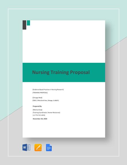 Nursing Training Proposal Template