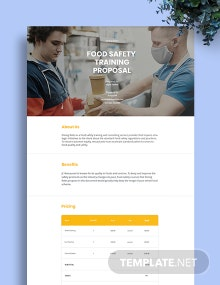 Food Safety Training Proposal Template