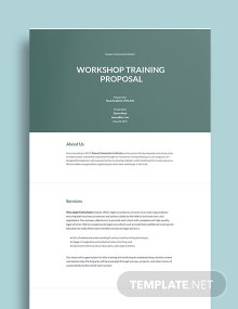 Workshop Training Proposal Template