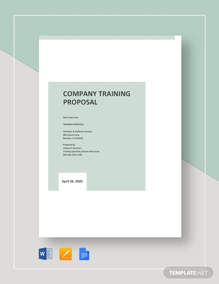Company Training Proposal Template