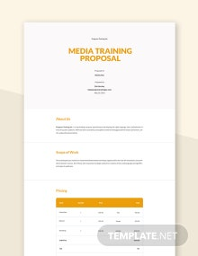 Media Training Proposal Template
