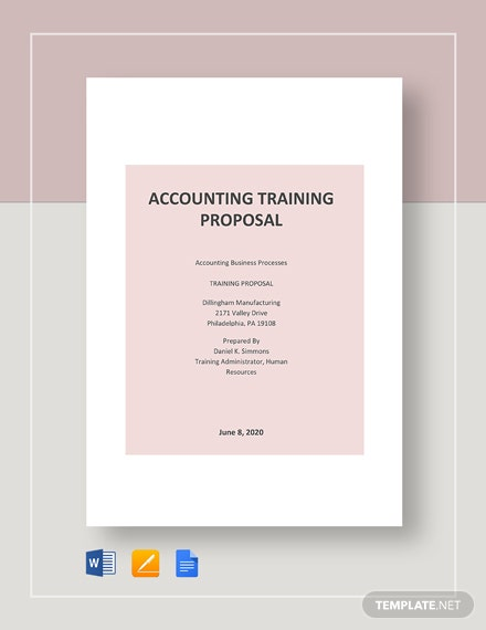 Accounting Training Proposal Template