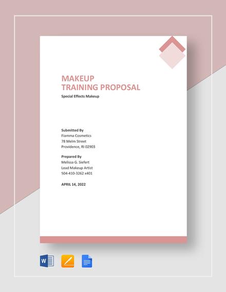 Makeup Training Proposal Template