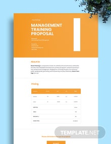 Management Training Proposal Template