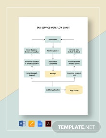Taxi Service Workflow Chart Template