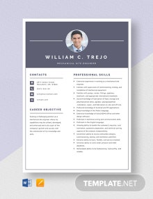 Mechanical Site Engineer Resume Template