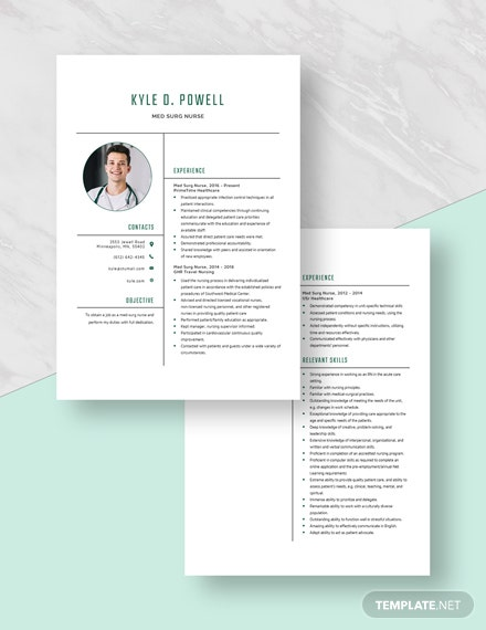 MedSurg Nurse Resume Download