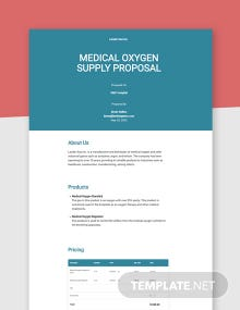 Product Supply Proposal Template