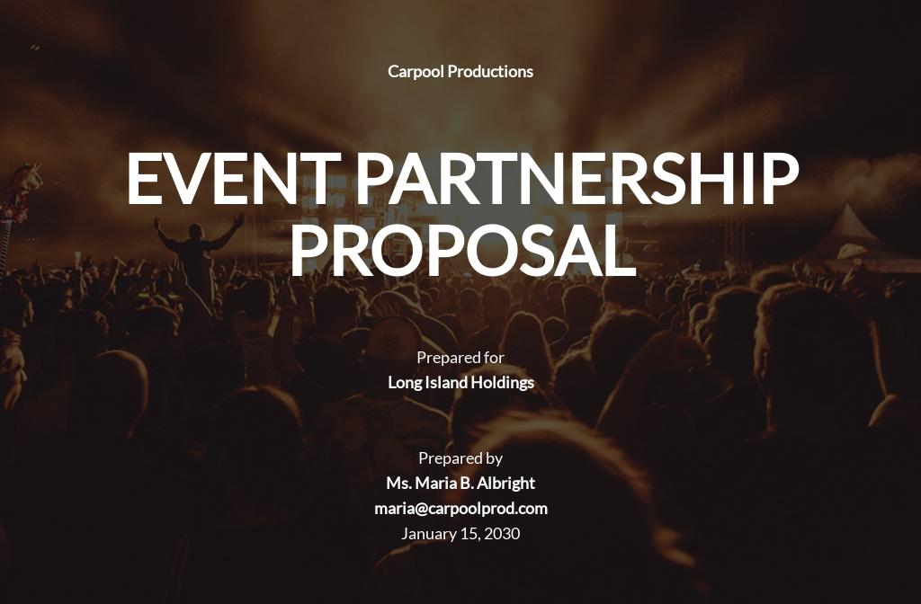 Festival Event Partnership Proposal Template