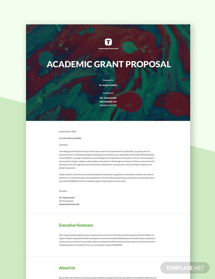 Editable Academic Grant Proposal Template