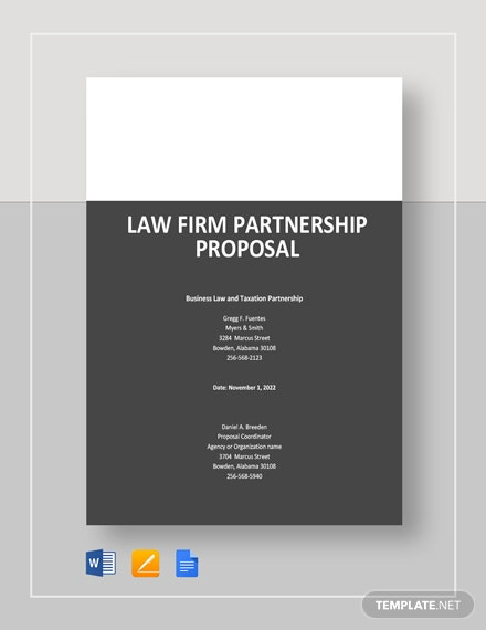 Law Firm Partnership Proposal Template