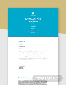 Business Grant Proposal Template