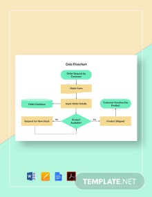 Data Flowchart Template