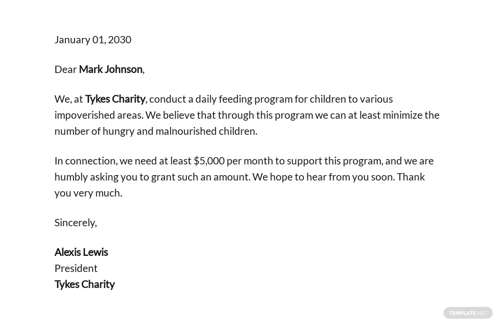 Charity Grant Proposal Template [Free PDF] - Google Docs, Word, Apple Pages