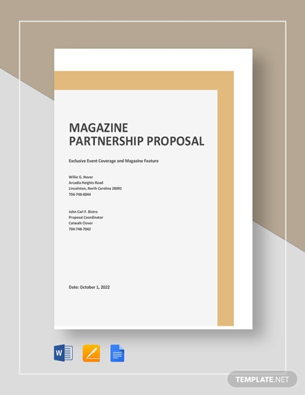 Magazine Partnership Proposal Template