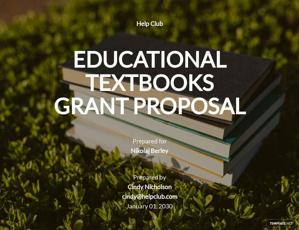 Education Grant Proposal Template