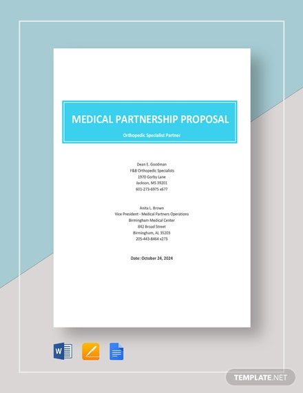 Medical Partnership Proposal Template