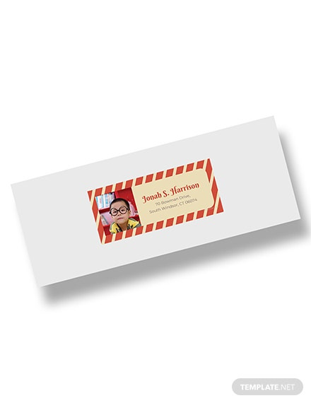 Free Photo Address Label Template