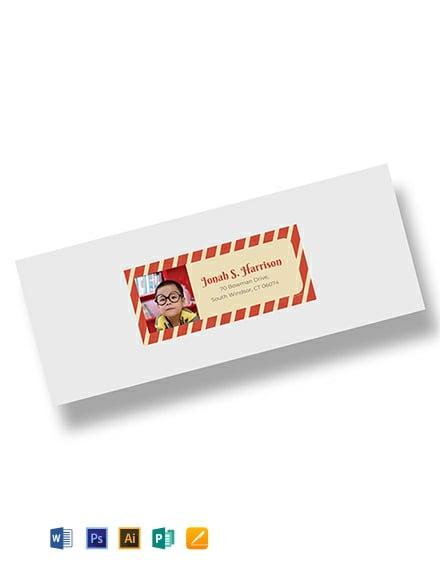 Free Photo Address Label Template