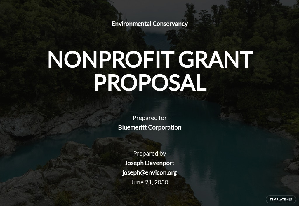 Nonprofit Grant Proposal Template