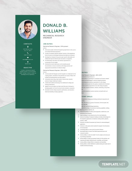 Mechanical Research Engineer Resume Download