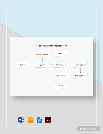 Sales Management Data Flowchart Template