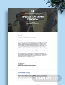 Request for Grant Proposal Template