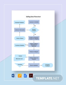 Selling Data Flowchart Template